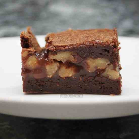 Caramel Pecan 'Turtle' Brownies