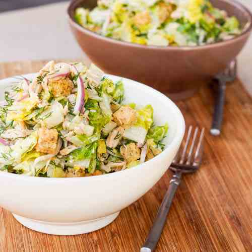 Romaine Salad w Chicken and Croutons