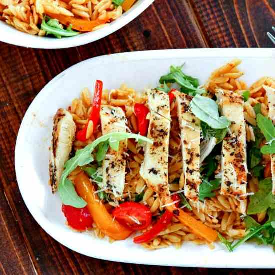 Summery Tuscan Chicken Orzo