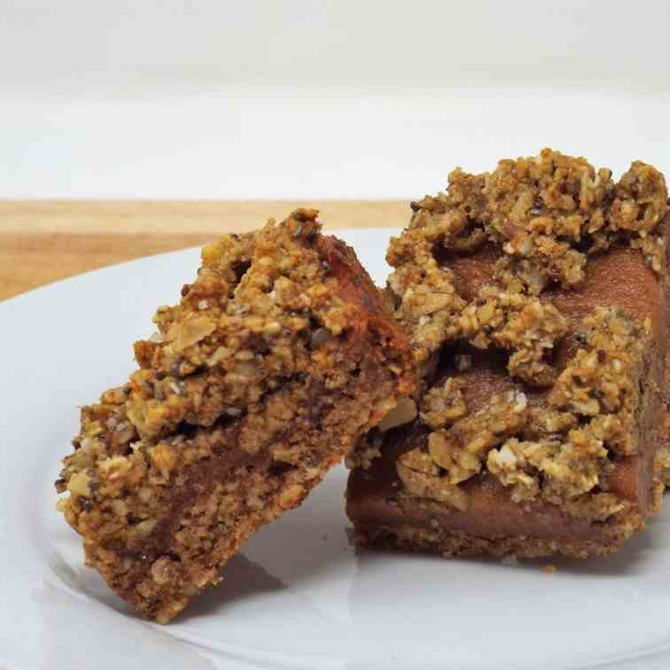 Date Caramel and Chia Cookie Bars