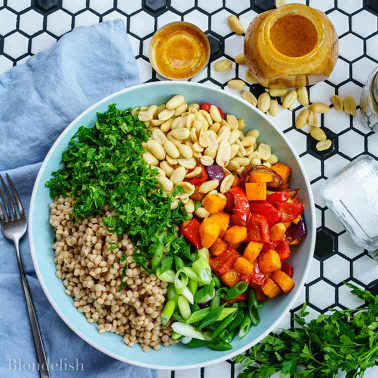 Roasted Veggie Couscous Salad