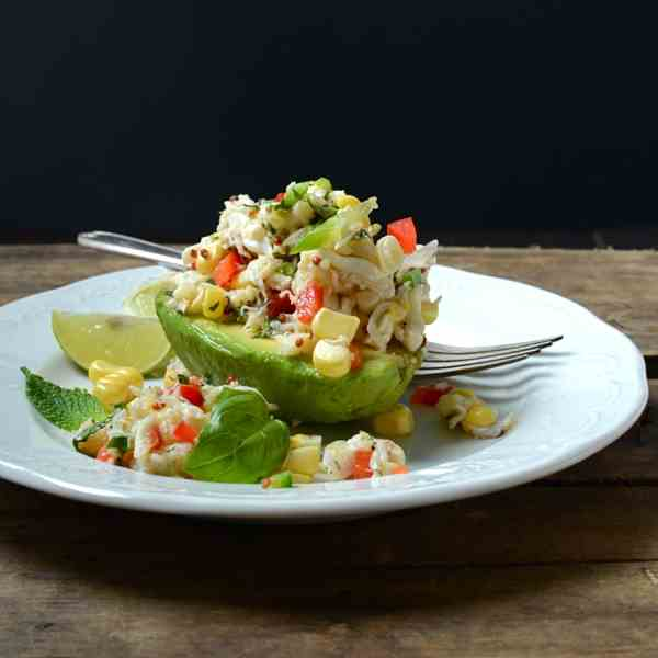 sweet corn and crab salad