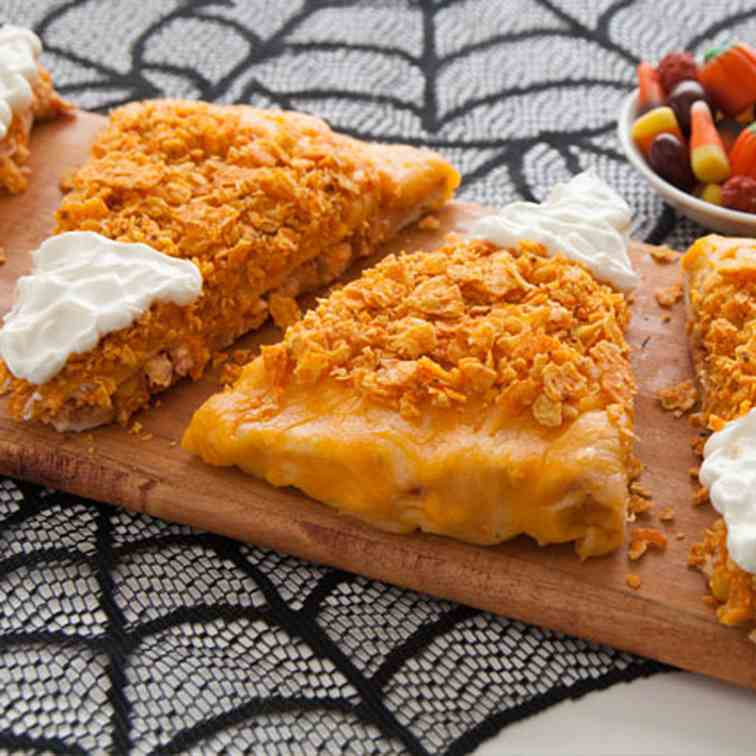 Stuffed Candy Corn Pizza