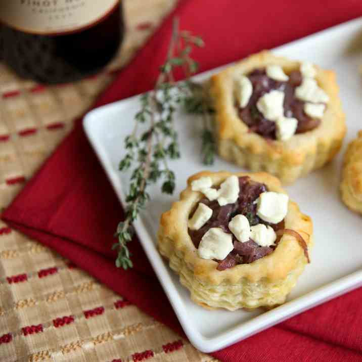 Red Onion and Goat Cheese Appetizers