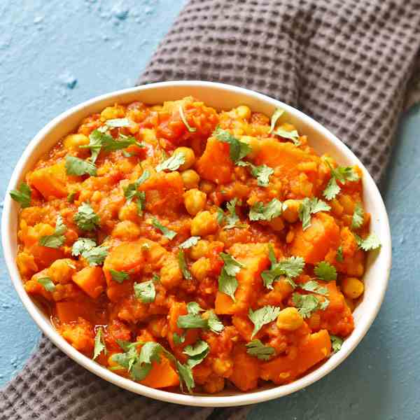 Sweet Potato, Lentil - Chickpea Curry