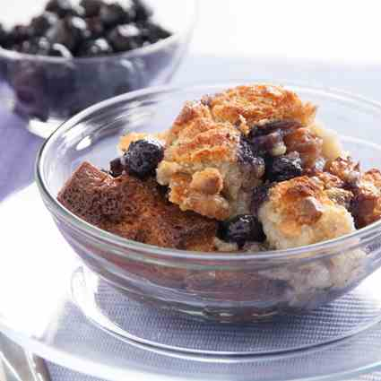 Creamy Blueberry Bread Pudding