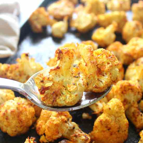 Golden Spice Roasted Cauliflower