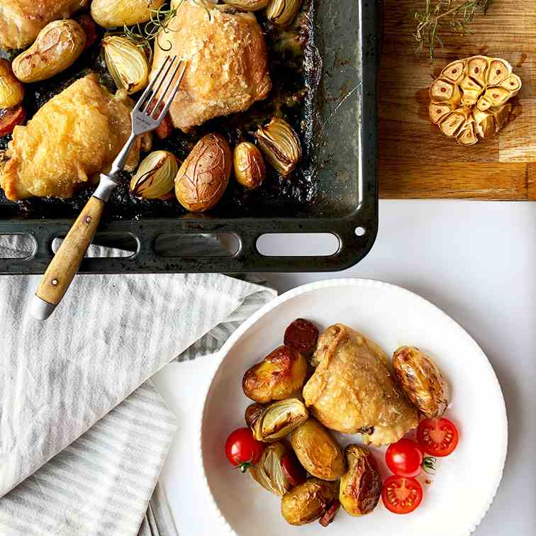 Chicken Thigh Tray Bake