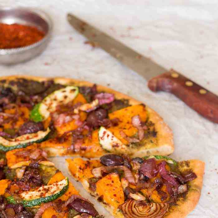 Fall pizza with pumpkin