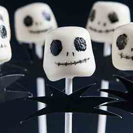 jack skellington marshmallow pops