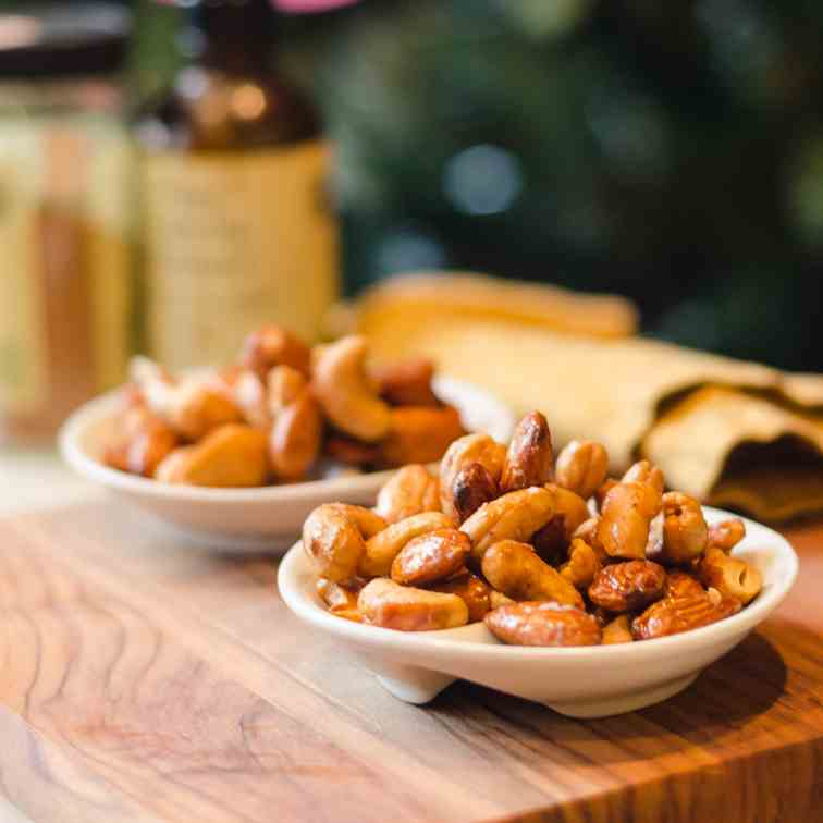 Maple Honey Roasted Almonds and Cashews