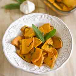 Roasted Sweet Potatoes with Sage