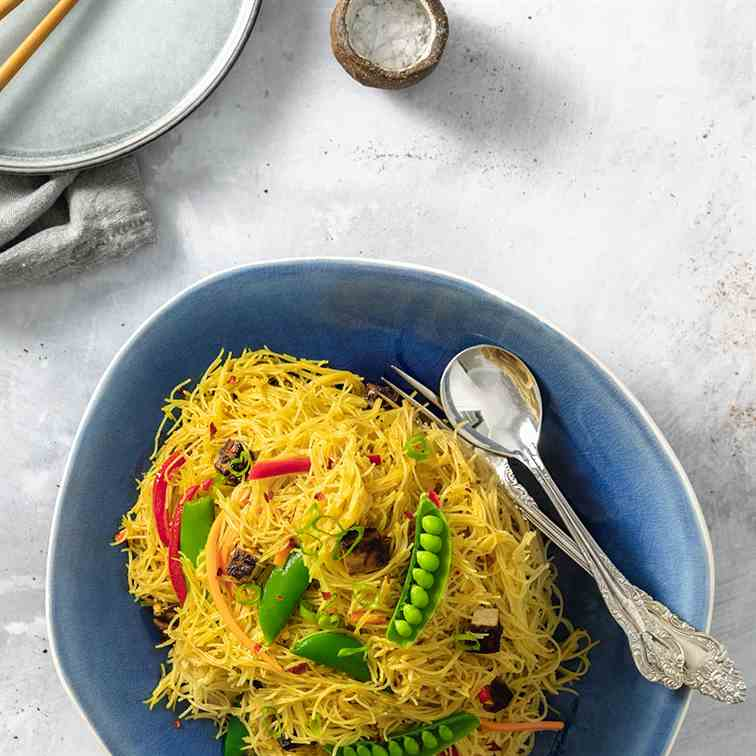 Singapore Noodles with Tofu