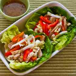 Asian Lettuce Wraps with Pork