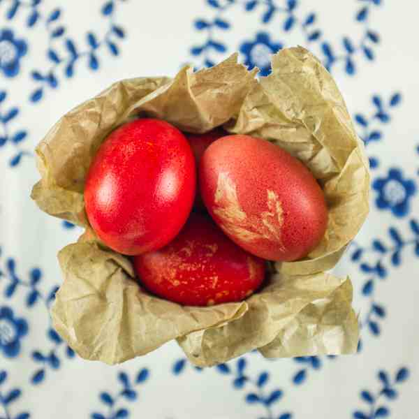 Red Orthodox Easter Eggs