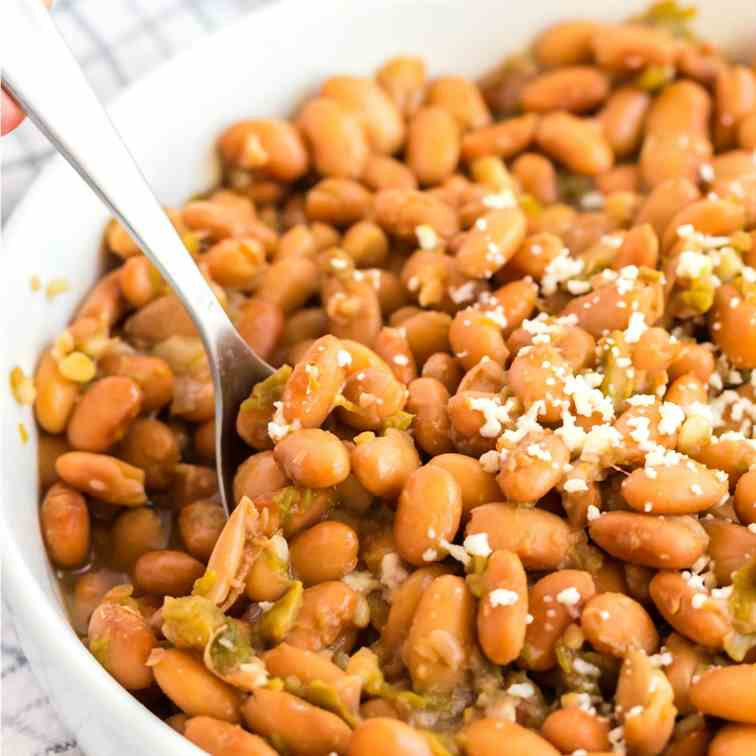 Crockpot Creen Chile Pinto Beans