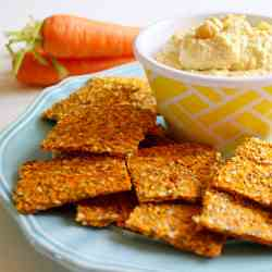 Raw Vegan Carrot and Flax Crackers