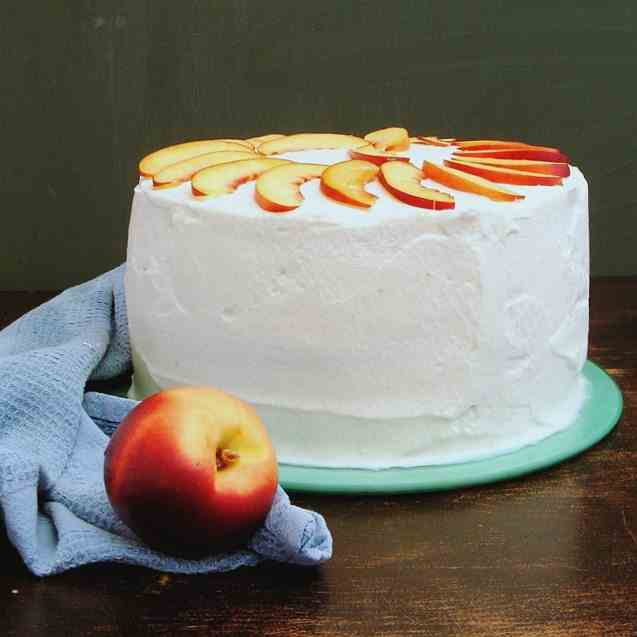 Nectarine Layer Cake