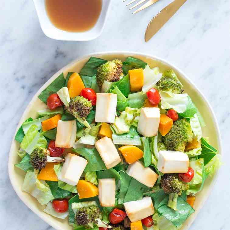 Tofu Salad with Refreshing Yuzu Dressing