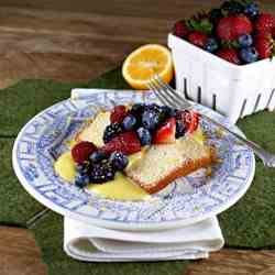 Lemon Loaf Cake with Meyer Lemon Curd