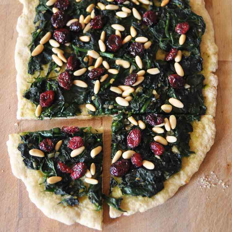 Catalan Spinach Flatbread