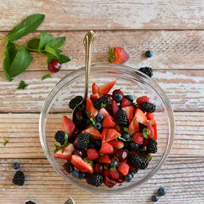 Mint and Lime Summer Berry Salad