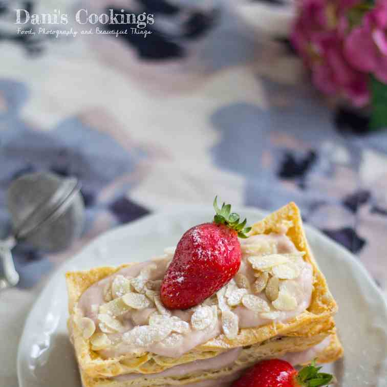 Strawberry Almond Millefeuille