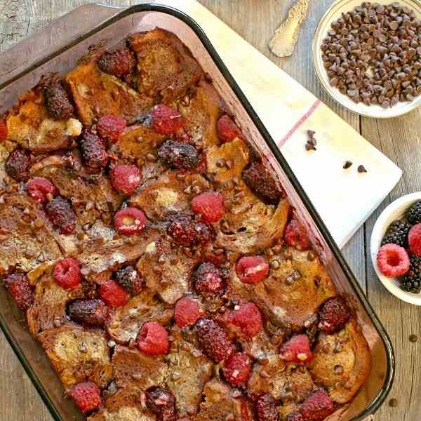 Berry Nutella French Toast Bake