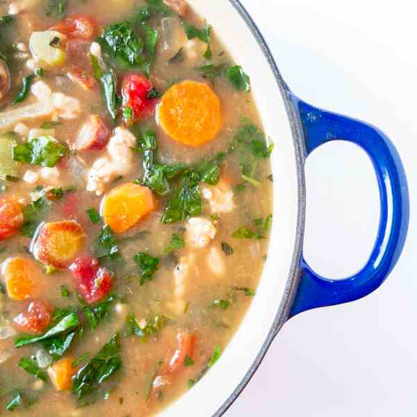 Herby Turkey Kale Soup