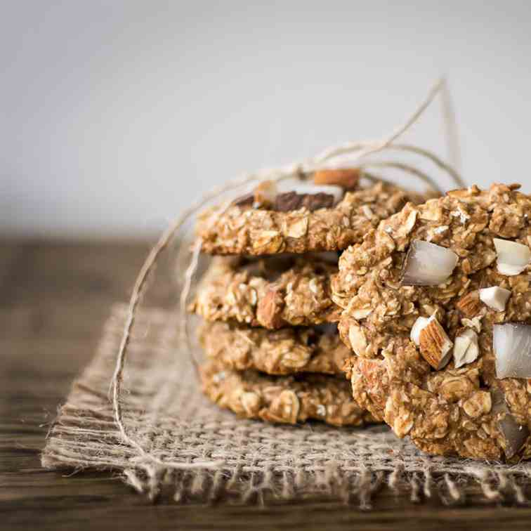 Coconut Almond Oatmeal Cookies