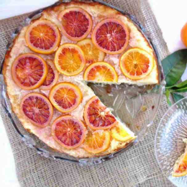 Greek Upside-Down Blood Orange Pie