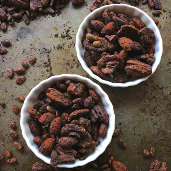 Smoky Sweet BBQ Roasted Nuts