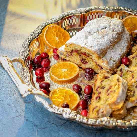 Cranberry Orange Quark Stollen
