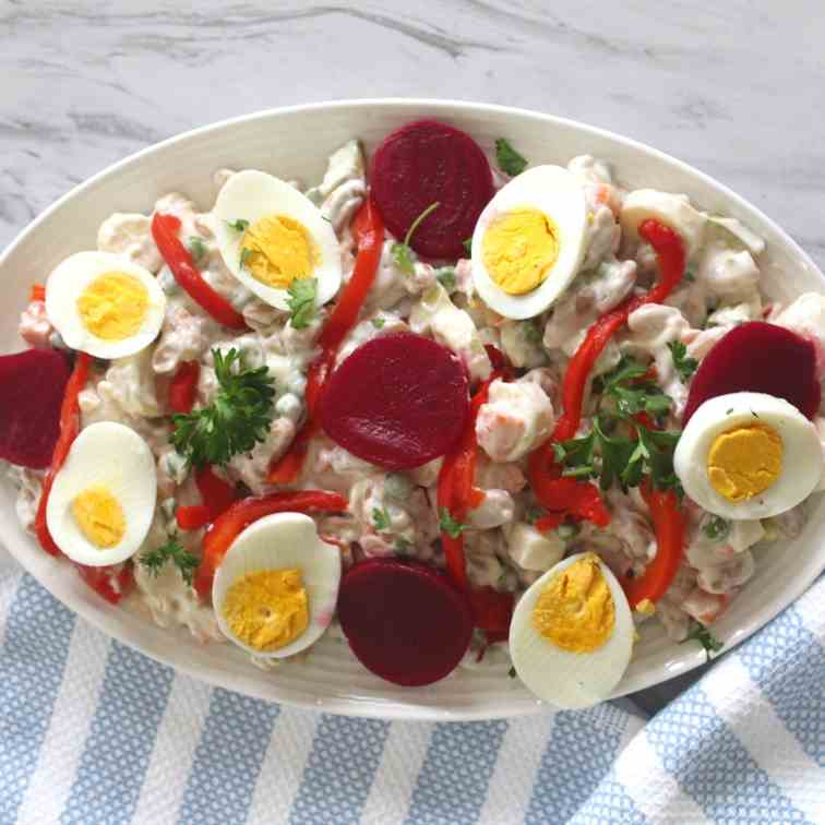 Albanian New Year's Eve Salad