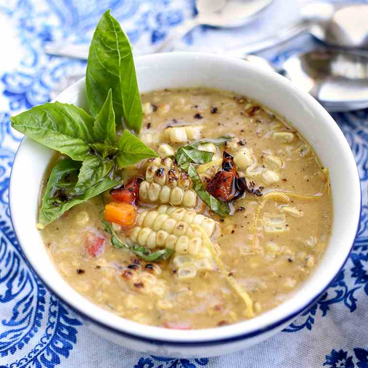 Grilled Summer Corn Chowder