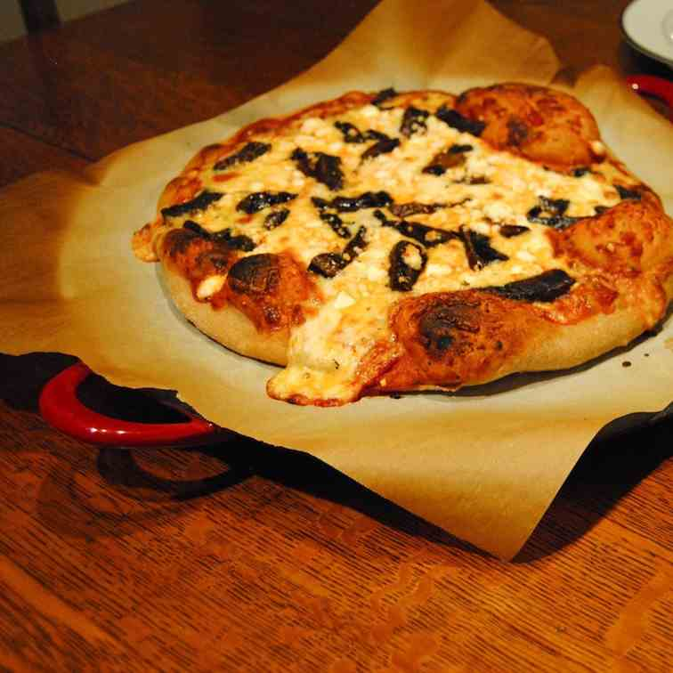Portobello and Goat Cheese Pizza