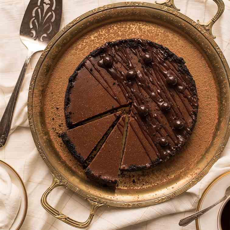 Instant Pot Chocolate Espresso Cheesecake