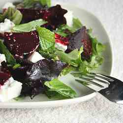 Roasted Beet, Mint and Feta Salad