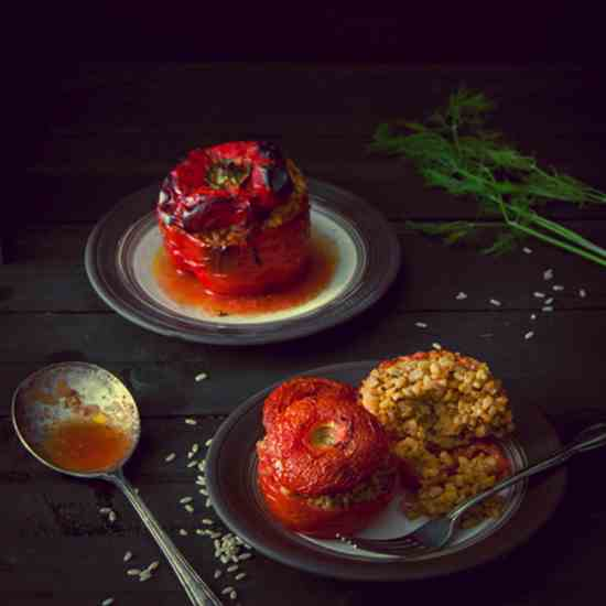 Gemista - Greek Style Stuffed Vegetables