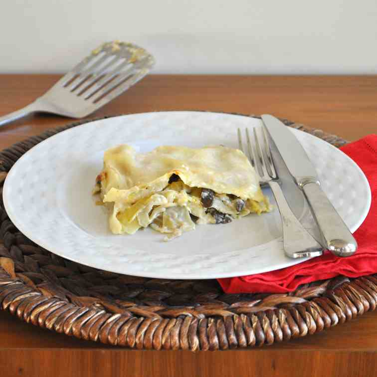 Lasagne with Artichokes and Mushrooms