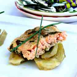 Mustard & Honey Salmon with Fennel