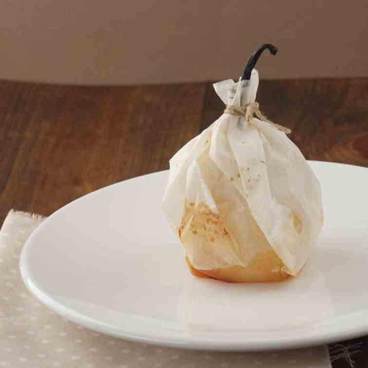 Pear with vanilla Papillote