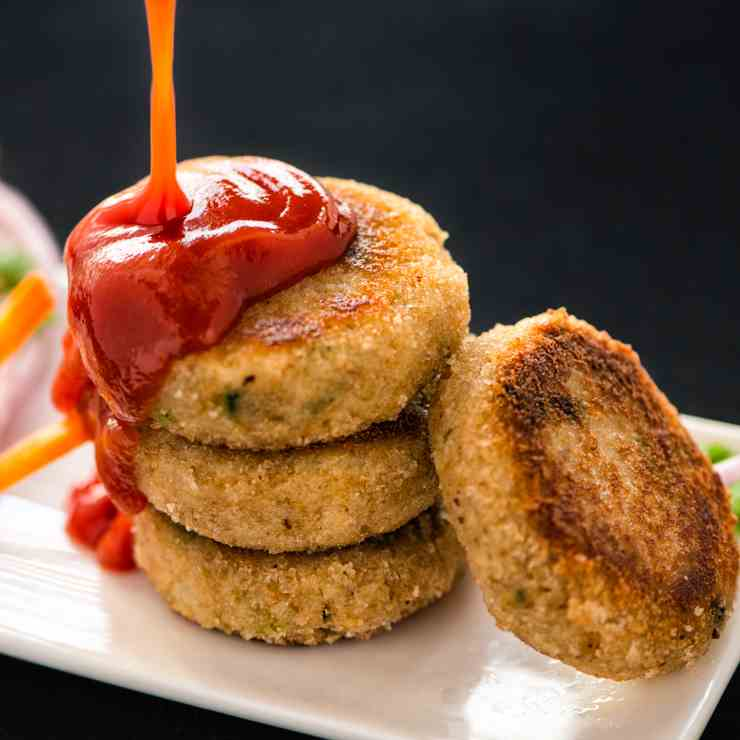 Soya Cutlets - Pan fried Soya Cutlets