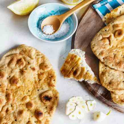 Coconut Flatbread with Greek Yogurt