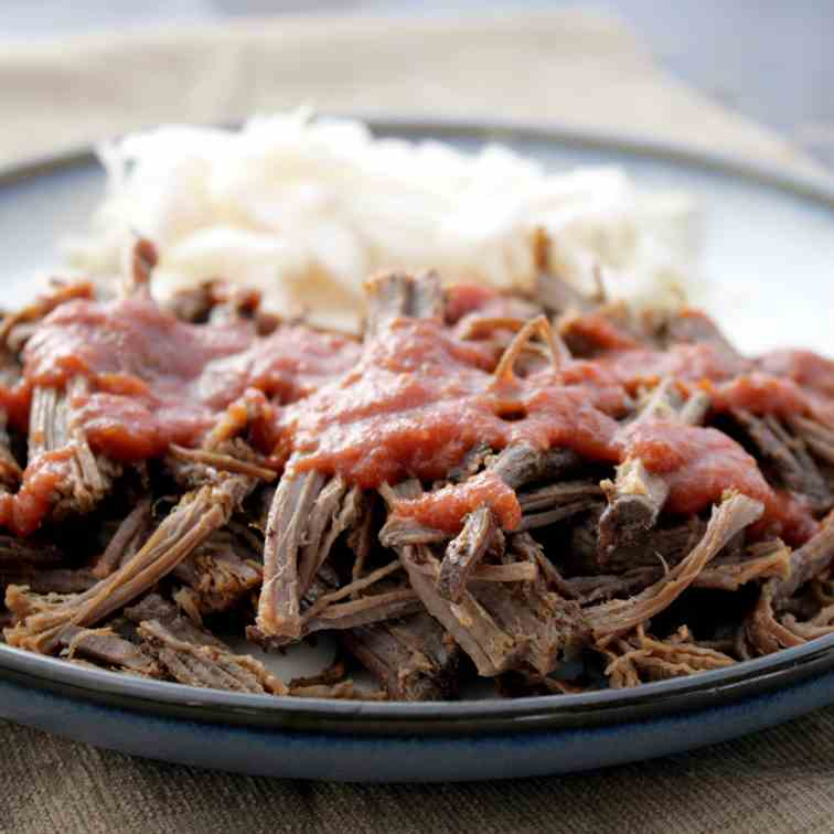 Coffee-Rubbed Pulled Brisket