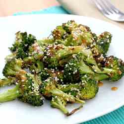 Roasted Broccoli with Sesame Miso Dressing