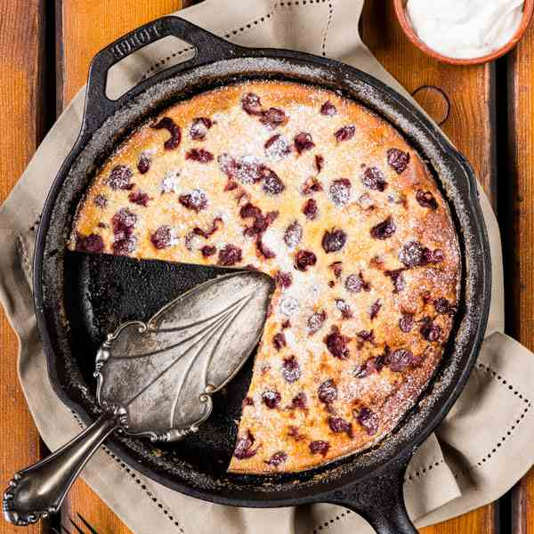 Cherry compote clafoutis