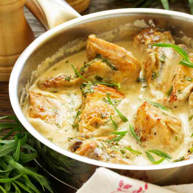 Quick One Pot Chicken Fricassee Recipe