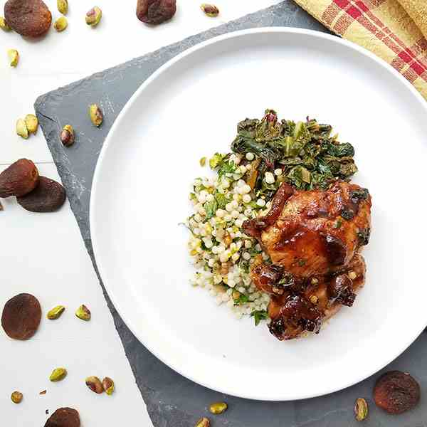 Moroccan glazed chicken
