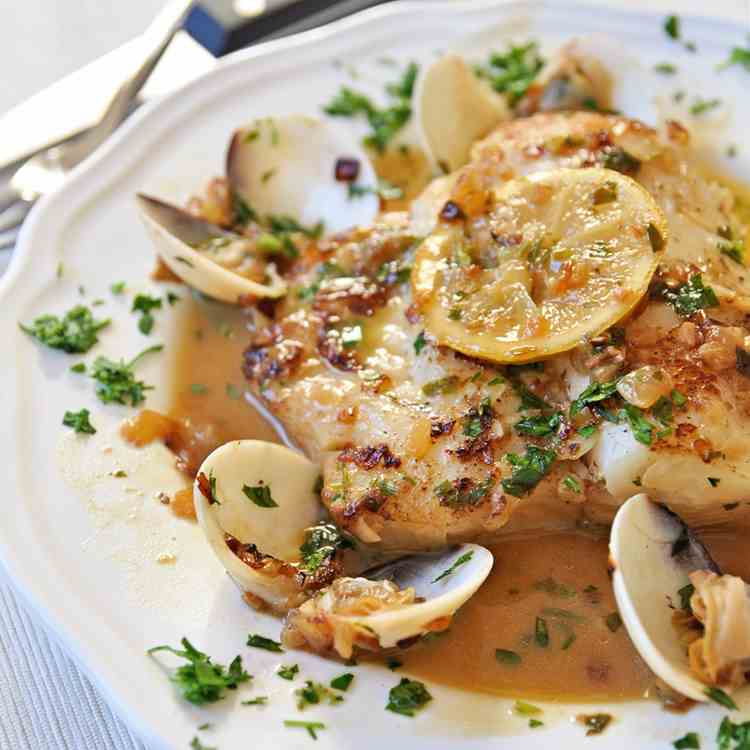 Hake Recipe with Clams and White Wine